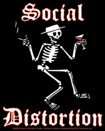 Licenses Products Social Distortion Skeleton Sticker