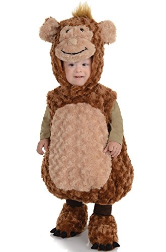 Underwraps Baby's Monkey Belly-Babies, Brown/Tan, Large (Baby Girl Monkey Costume)
