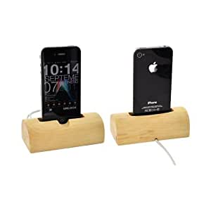 Exclusive BNA Nature 1 Hard Wood Log Dock For Apple iPhone iPod