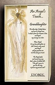 """An Angel's Touch... """"Granddaughter"""" - Beautiful Feather & Poem - The Perfect Gift for a Darling Granddaughter!"""