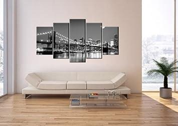impression sur toile 160x85 cm image sur sur toile 5 parties encadr e prete a. Black Bedroom Furniture Sets. Home Design Ideas