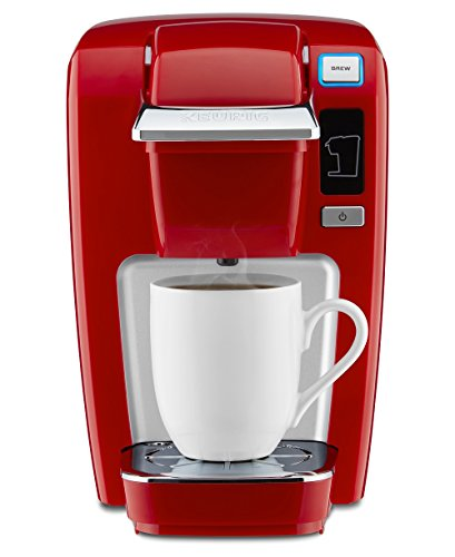 Keurig K15 Single Serve Compact K-Cup Pod Coffee Maker, Chili Red (Keurig Single Cups compare prices)