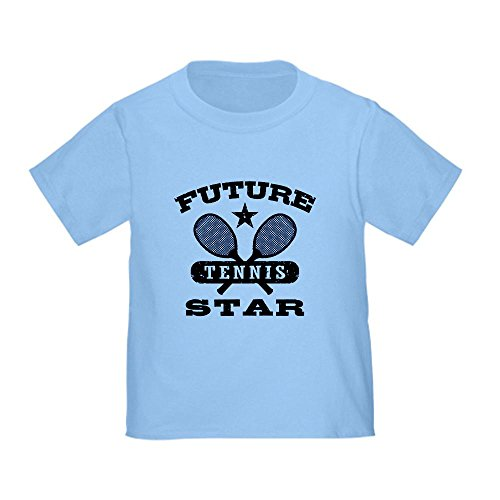 Cafepress Future Tennis Star Toddler T-Shirt - 4T Baby Blue front-1030548