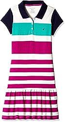 Nautica Kids Girls' Dress (34G32R650_Dark Pink_14)