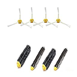 Accessory Kit for Irobot Roomba 585 595 Pet Series - Includes 4pc Side Brush, 2pc Bristle Brush and 2pc Beater Brush by Createchy