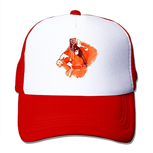 Donny You Are Hero League Custom Summer Hat Caps Lightweight Mesh Flexfit Red