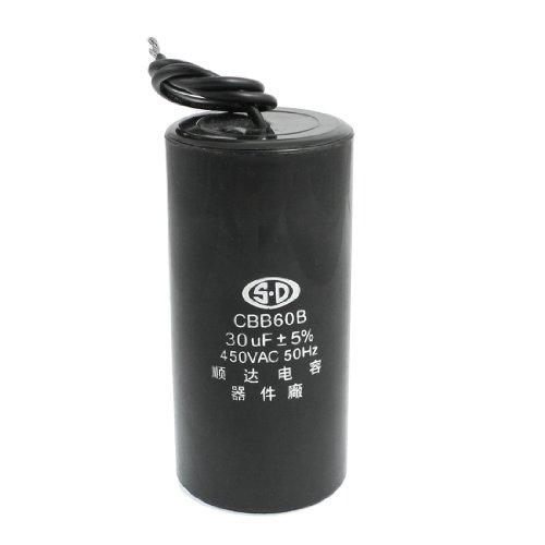 Amico CBB60B AC 450V 30uF 5% Capacitance Washing Machine Wired Motor Run Capacitore