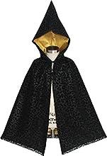 Sunny Fashion Girls Dress Halloween Cloak Black Leopard With Hood