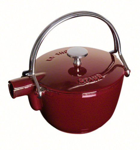 Staub La Theiere Teapot 1-quart Grenadine (Pooh Tea Kettle compare prices)