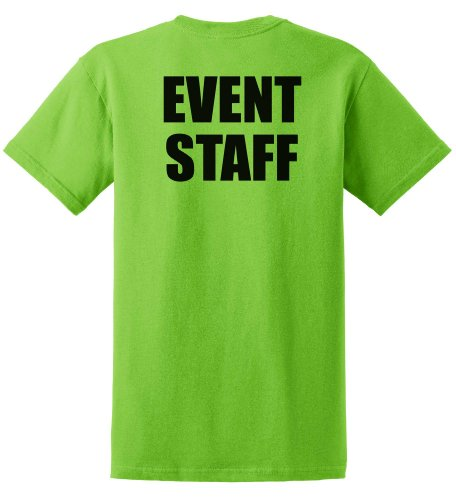 Event Staff T-Shirt in Lime Green- Medium,Lime Green