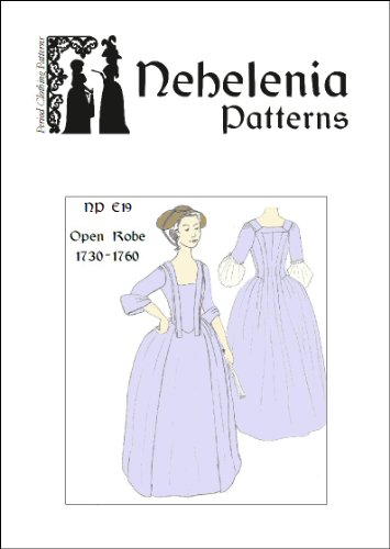 1730-1760 Open Robe Pattern (Size S)