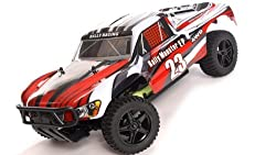 1/10 2.4 Ghz Exceed Rc Electric Rally Monster Rtr Off Road Rally Truck Stripe Red