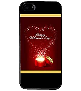 PrintDhaba Valentine Design D-2505 Back Case Cover for APPLE IPHONE 4S (Multi-Coloured)