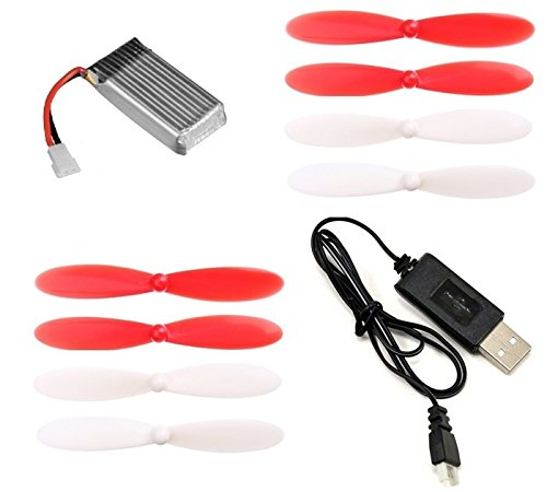Hubsan-X4-H107D-37v-380mAh-25c-Li-Po-Battery-USB-Charger-55mm-Propeller-Blades-FAST-FREE-SHIPPING-FROM-Orlando-Florida-USA