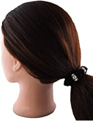 Anuradha Art Black Colour Stylish Design With Stone Hair Accessories Hair Band Stylish Rubber Band For Women/Girls