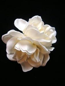 Perfect Ivory White Velvet Gardenia Hair Clip