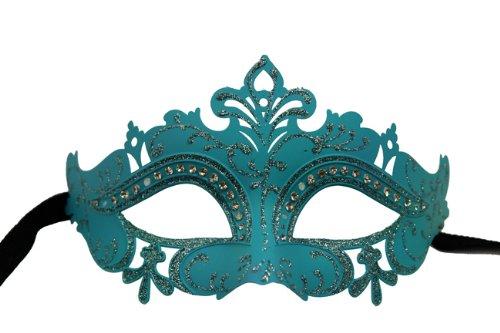 Laser Cut Venetian Skyblue Mardi Gras Masquerade Mask Costume Ball