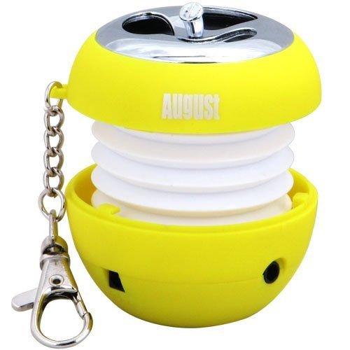 August-MS310-Mini-Lautsprecher-Tragbare-Box-mit-integriertem-Akku-35-mm-Audio-In-fr-MP3-Player-Computer-Handys-Gelb