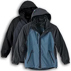 North End Mens Performance 3-In-1 Seam-Sealed Mid-Length Waterproof Jacket