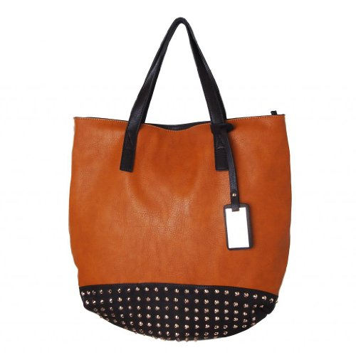 Humble Chic The Rebecca Bag - Studded Leather Tote