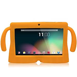 TabSuit 7'' Orange Silicone Rubber Gel Soft Skin Case Cover case for 7'' Dragon Touch Dual Core Y88 Tablet [By TabletExpress]
