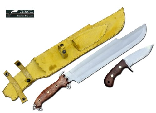 "14"" Blade Predator Euk Survival Machete Military Knife With Small Utility Knife- Full Tang Blade - Handmade By Gk&Co. Kukri House In Nepal."