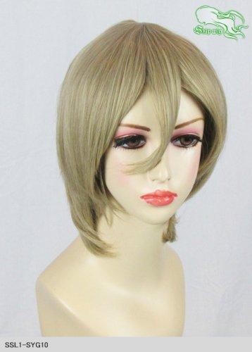 スキップウィッグ 魅せる シャープ 小顔に特化したコスプレアレンジウィッグ マシュマロショート アッシュゴールド