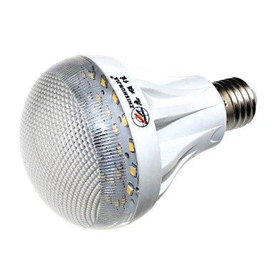 Blumenzwiebeln - ZHISHUNJIA Mikrowellen Radar Bewegungsmelder E27 9 W 30 x 700 lm 3000 K LED mit den Körper Warm weißes Licht Leuchtmittel GLOBE Lampe LED Flur Induktionsherd (AC85 weder im 265V)
