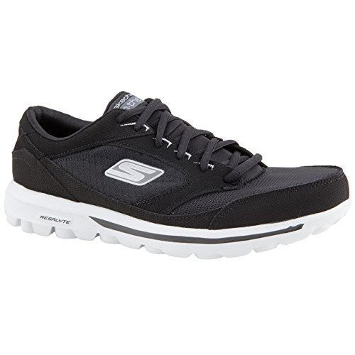 mens-skechers-on-the-go-rookie-black-white-leisure-trainers-size-9