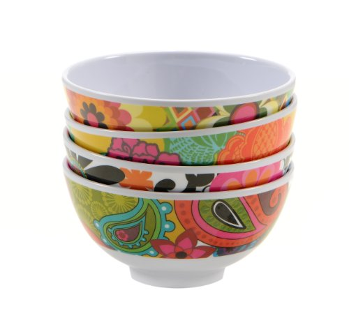 French Bull 4 1/2 Inch Melamine Bowls Set Of 4, Floral