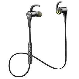 SoundPEATS Bluetooth イヤホン 高音質 apt-Xコーデック採用  外れにくい Bluetooth