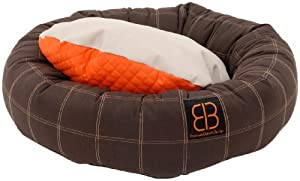 Petego Dozer Donut Round Bolster Dog Bed, Medium, 31 1/2 Inches