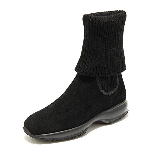 4884G stivale donna nero HOGAN interactive lana ciniglia scarpa boots shoes wome