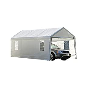 Shelterlogic 10x20 canopy enclosure kit with windows for 1 for 10x10 overhead door price