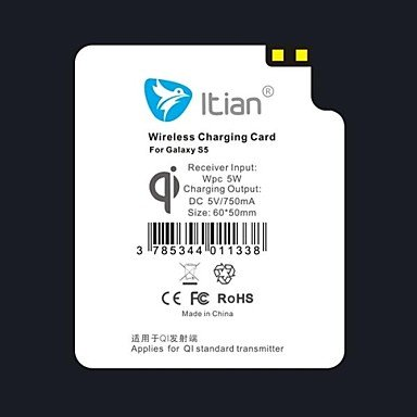 Itian High Quality Standard Ultra Thin Wireless Charger Receiver Module For Samsung Galaxy S5
