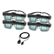 DLP 3D shutter glasses and transmitter family 4 pack for your compatible 3D HDTV (computer or converter required for some 3D content)