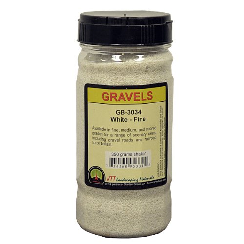 JTT Scenery Products Ballast and Gravel, White, Fine - 1