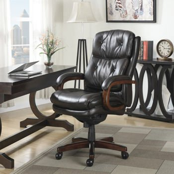lazboy bonded leather executive office chair