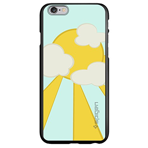 "Custom Black Spigen Thinfit Case For Apple Iphone 6 Plus (5.5"") - Blue Yellow Sun Sky Clouds"