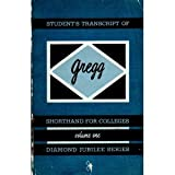 img - for Student's Transcript of Gregg Shorthand for Colleges (Diamond Jubilee Series, Vol. 1) book / textbook / text book