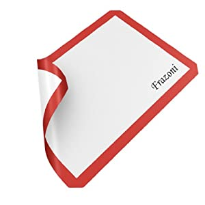 Silicone Pastry Mat Silicone Baking Mat. AVOIDS FOOD BURNING and STICKING. Helps You Bake... by Frazoni