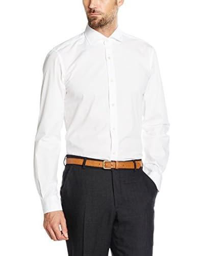 Cortefiel Camicia Formale Jaquard T-Spr [Bianco]