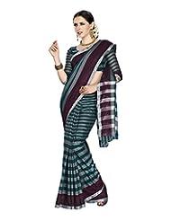 Aadarshini Women's Cotton Saree (4030, Grey And Green)