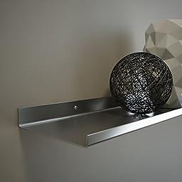 Stainless Steel Floating Ledge / Ultra Mega Shelf/ Art Display / Picture Ledge 5\