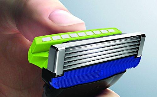 schick hydro 5 sensitive skin razor blade refills for men with flip trimmer. Black Bedroom Furniture Sets. Home Design Ideas