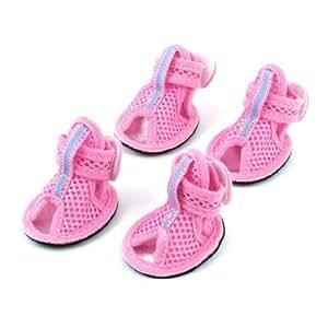 de la malla de las sandalias zapatos del perro SZ M : Pet Supplies
