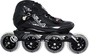 Black Vanilla Carbon Inline Speed Skates Men Boys Size 1-13 by Skate Out Loud