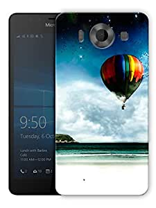"""Humor Gang Hot Air Balloon And Beach Printed Designer Mobile Back Cover For """"Nokia Lumia 950"""" (3D, Matte, Premium Quality Snap On Case)"""
