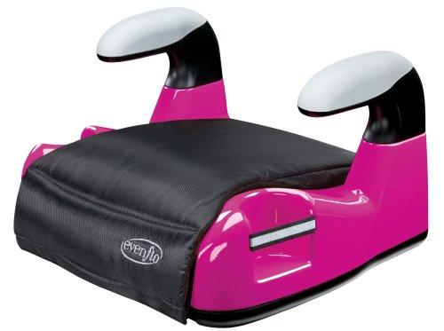 Evenflo Big Kid Amp No Back Booster Car Seat - Pink front-28073