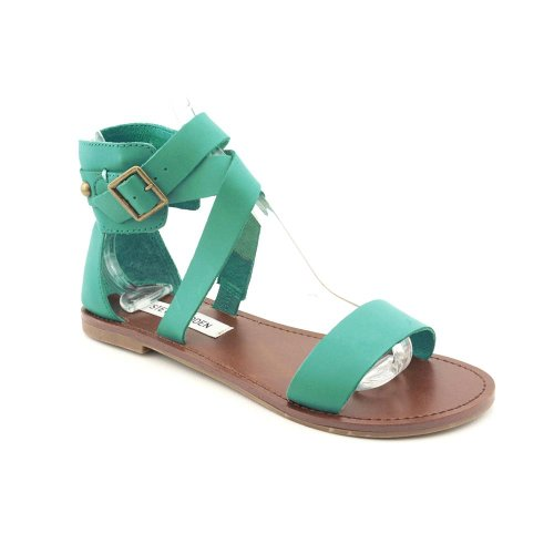 Steve Madden Women'S Bethanyy Ankle-Strap Sandal,Turquoise Leather,8 M Us front-860566